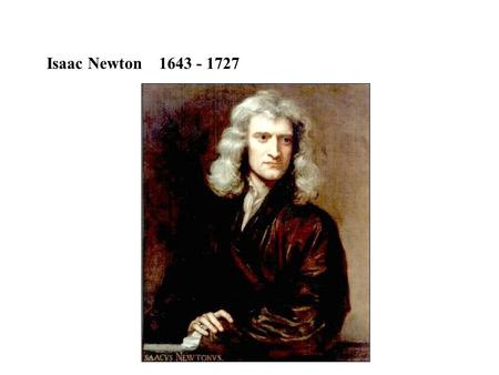 Isaac Newton 1643 - 1727. Light behaves like small particles - corpuscles Light travels in straight lines Reflect off opaque surfaces Penetrate transparent.