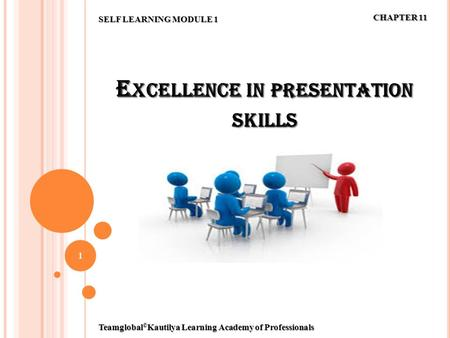 E XCELLENCE IN PRESENTATION SKILLS 1 SELF LEARNING MODULE 1 CHAPTER 11 Teamglobal © Kautilya Learning Academy of Professionals.