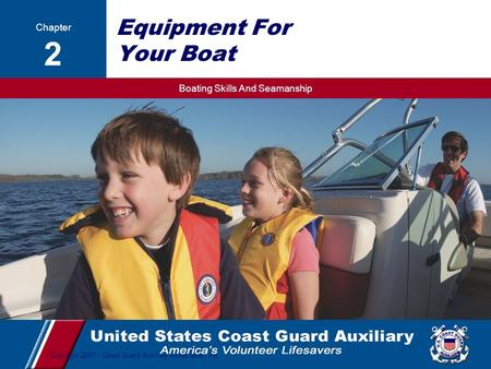 Equipment For Your Boat