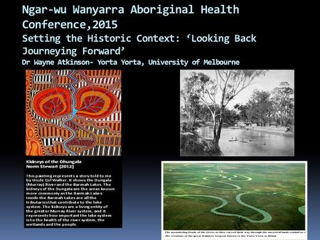 Context of indigenous health