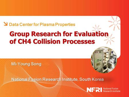 Group Research for Evaluation of CH4 Collision Processes