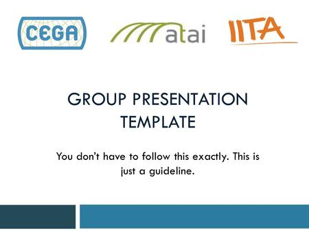 Group PresentaTion Template