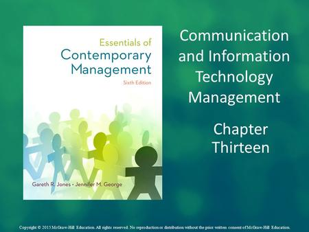 Communication and Information Technology Management