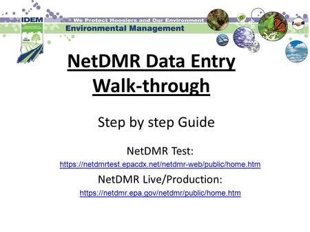 NetDMR Data Entry Walk-through