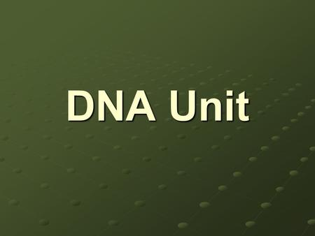 DNA Unit. Structure of DNA - shape is a double helix - a long polymer made of smaller units (monomers) called nucleotides.