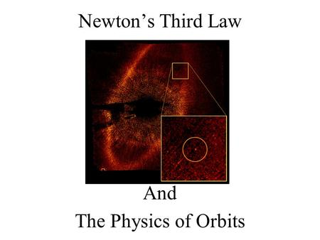 Newton's Third Law And The Physics of Orbits. According to Newton's Third Law… If a Satellite is pulled on by the Object it orbits it must pull back with.