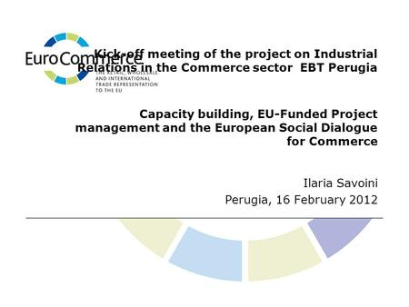 Kick-off meeting of the project on Industrial Relations in the Commerce sector EBT Perugia Capacity building, EU-Funded Project management and the European.