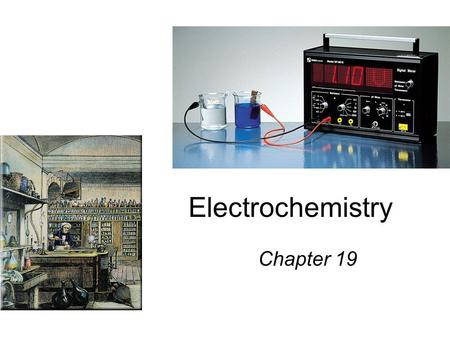 Electrochemistry Chapter 19. 2Mg (s) + O 2 (g) 2MgO (s) 2Mg 2Mg 2+ + 4e - O 2 + 4e - 2O 2- Oxidation half-reaction (lose e - ) Reduction half-reaction.
