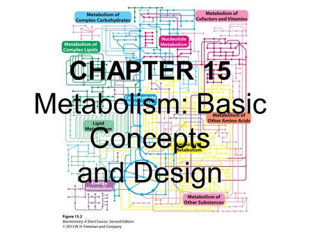 CHAPTER 15 Metabolism: Basic Concepts and Design.