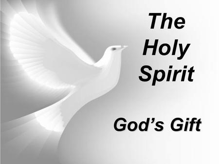 God's Gift The Holy Spirit. Who is the Holy Spirit?