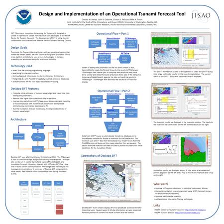 Design and Implementation of an Operational Tsunami Forecast Tool Donald W. Denbo, John R. Osborne, Clinton K. Pells and Mike A. Traum Joint Institute.