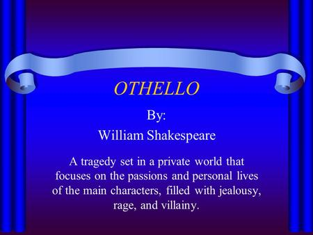 jealousy in william shakespeares othello essay