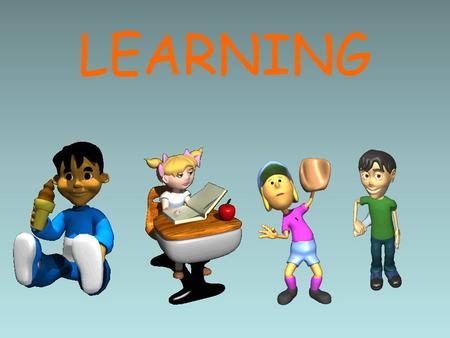 LEARNING. Learning What does it mean to learn something? How do you know you've learned?