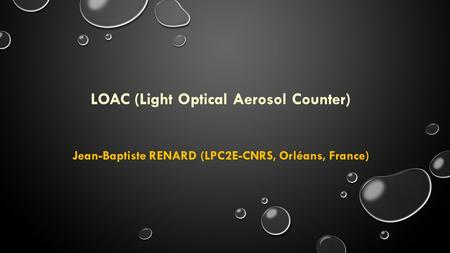 LOAC (Light Optical Aerosol Counter)