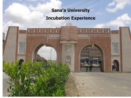 Sana'a University Incubation Experience. Poverty Economic Fluctuations Low Productivity 2.2. Managerial Problems Unemployment Knowledge.