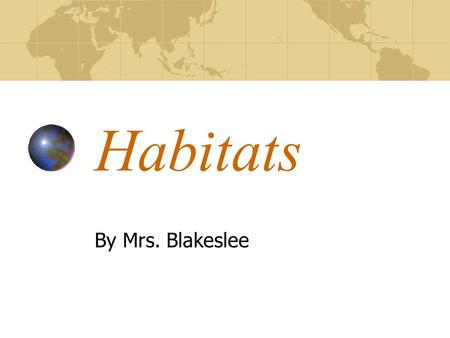 Habitats By Mrs. Blakeslee. Rainforest It rains 80-400 inches per year in the tropical rainforest. Chimpanzees, gorillas, and loris' live there. Tropical.