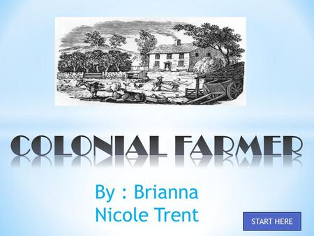 By : Brianna Nicole Trent START HERE. TRUE FALSE Did Colonial Farmers plant tobacco? OR.