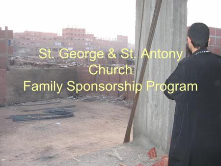 St. George & St. Antony Church Family Sponsorship Program.