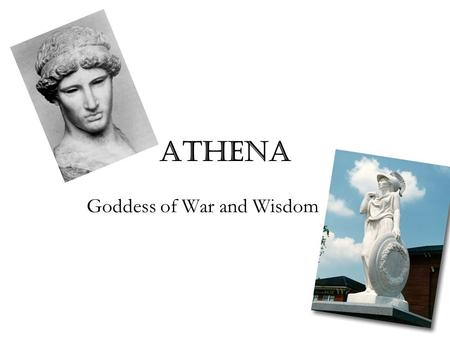 Athena Goddess of War and Wisdom. A painting representing the birth of Athena.