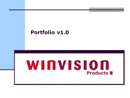 Portfolio v1.0 Products. Benefits Scalable Fast Full interface via web services Fully integrated with Microsoft SharePoint Easy navigation Competence.