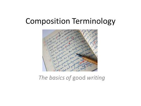 Composition Terminology