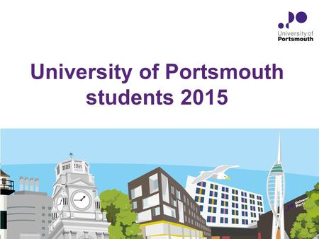University of Portsmouth students 2015. Communicating with you Student support services Course representatives Student Handbook Student Charter Safer.