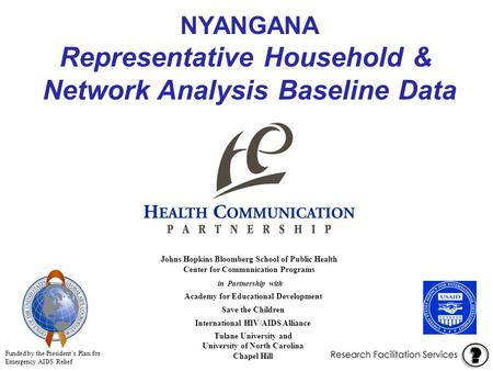 NYANGANA Representative Household & Network Analysis Baseline Data in Partnership with Academy for Educational Development Save the Children International.
