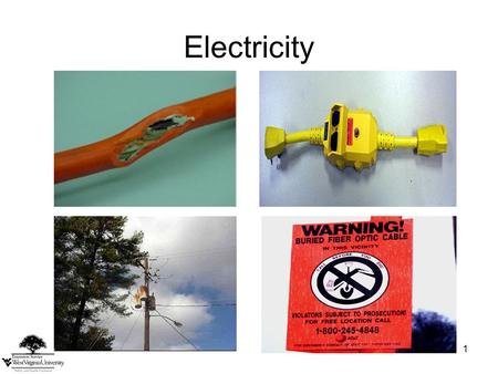 1 Electricity. 2 Related Work Activities Using power tools Digging, excavating and boring Exposure to overhead power lines Falling branches Utility line.