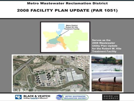 2008 Facility Plan Update May 2008. Purpose  Comprehensive Plan through 2033 –Builds on Past Work –Adjust for Changing Conditions  Identify Capacity,