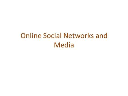 Online Social Networks and Media. BETWEENNESS AND GRAPH PARTITIONING Chapter 3, from D. Easley and J. Kleinberg book Section 10.2.4, from A. Rajaraman,