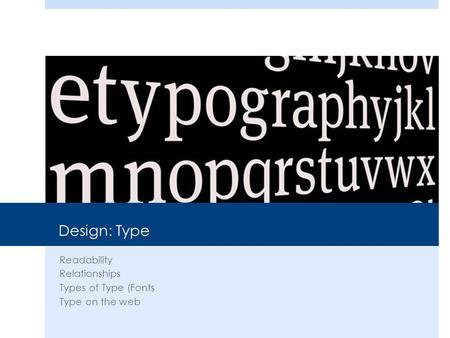 Type Contrast Non Designers Design Book