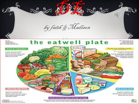 EAT WELLGUI DE by faith & Madison Year 3 5 FOOD GROUPS Fruit and vegetables roughage  Starchy foods, such as bread, rice, potatoes and pasta. Choose.