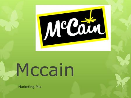 Mccain Marketing Mix.