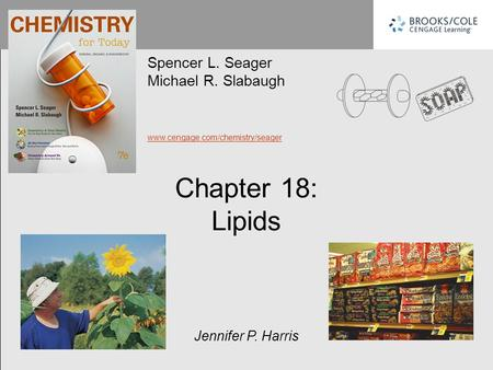 Chapter 18: Lipids Spencer L. Seager Michael R. Slabaugh www.cengage.com/chemistry/seager Jennifer P. Harris.