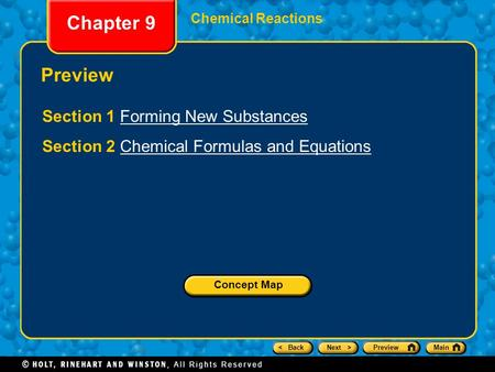 Chapter 9 Preview Section 1 Forming New Substances