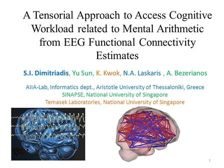 A Tensorial Approach to Access Cognitive Workload related to Mental Arithmetic from EEG Functional Connectivity Estimates S.I. Dimitriadis, Yu Sun, K.