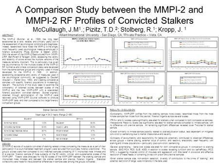 MMPI-2-RF Training Slides, University of Minnesota Press ...