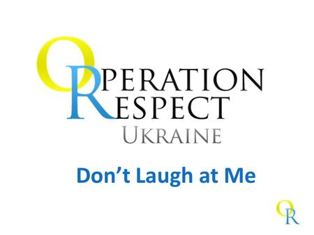 Don't Laugh at Me. Не смійся з мене Group Agreement.