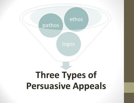 Three Types of Persuasive Appeals logospathosethos.
