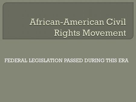 a survey of the african american civil rights movement Some white american joined the american civil rights movement alongside their black countrymen and women – and, sometimes, died.
