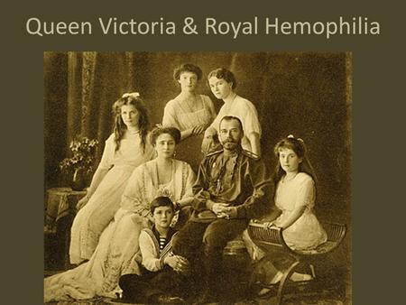 Queen Victoria & Royal Hemophilia. One of the most famous examples of a pedigree demonstrating inheritance of a sex- linked trait is the family of Queen.