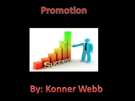 Promotion= Communication techniques aimed at informing, influencing, and persuading customers to buy or use a particular item. this involves communication.