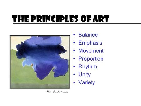 The Principles of Art Balance Emphasis Movement Proportion Rhythm