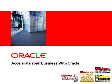 Accelerate Your Business With Oracle. Program Agenda RDMBS Market Opportunity Opportunity for Partners Oracle 1-Click Solutions Call to Action.