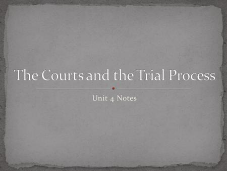 Unit 4 Notes. Judges act in three major roles: 1. Adjudicator – must assume a neutral stance between the prosecution and the defense. Must apply the law.