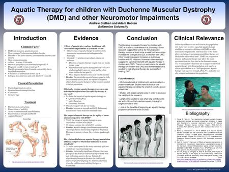 Www.postersession.com Common Facts 4 DMD is a recessive, genetic disorder Most common X chromosome linked disorder Disorder of the motor neuron, neuromuscular.