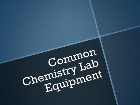 "Common Chemistry Lab Equipment. A. Well Plate  Used as a ""small scale"" reaction vessel, where you are only using drops of solutions."