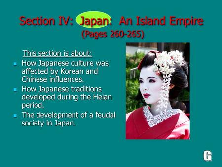 Section IV: Japan: An Island Empire (Pages )