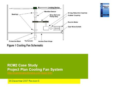 05 December 2007 Revision 5 RCM2 Case Study Project Plan Cooling Fan System  (topic link)