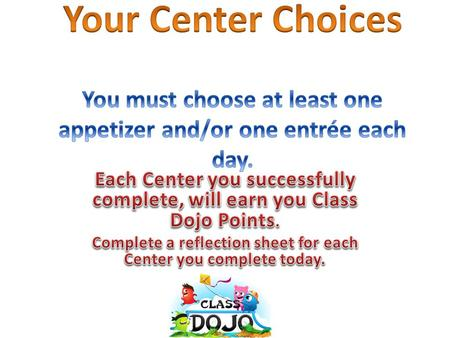 AppetizersClass Dojo Point Value Visit ixl.com and choose Language Arts. Click on third grade skills. Choose from the following options: Irregular and.